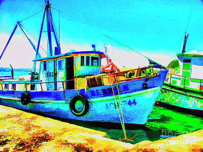 Digital Art - Chiloe Boats by Rick Bragan