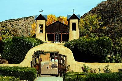 Photograph - Chimayo Church by Joseph Frank Baraba