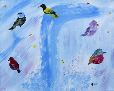 Chimes Of A Waterfall Dream Original by Meryl Goudey