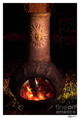 Photograph - Chiminea With Fire by Greg Kopriva