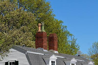 Photograph - Chimney  At Glen Magna Farms by Paul Meinerth