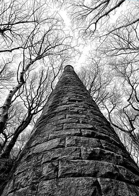 Chimney In Trees Art Print by Philip Openshaw