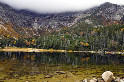 Chimney Pond During Fall - Baxter State Park Maine Art Print by Brendan Reals