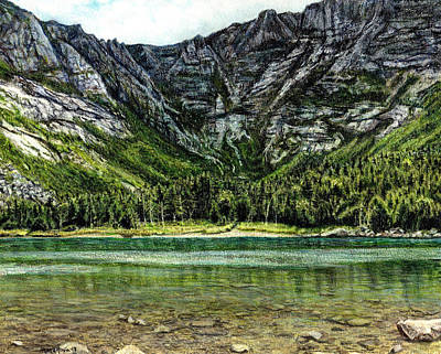 Drawing - Chimney Pond by Shana Rowe Jackson