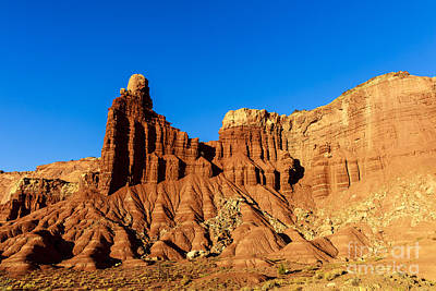 Photograph - Chimney Rock At Capitol Reef by Ben Graham