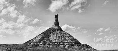 Photograph - Chimney Rock Black And White Panorama by Adam Jewell