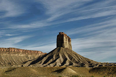 Photograph - Chimney Rock Butte Sw Co by Dave Gordon