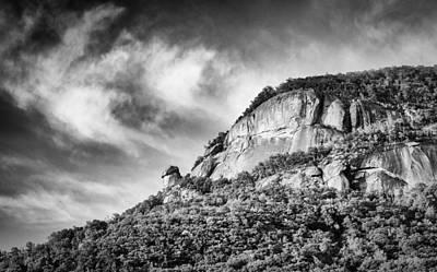 Photograph - Chimney Rock - Bw by Joye Ardyn Durham