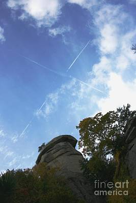 Photograph - Chimney Rock Cross by Stacy C Bottoms