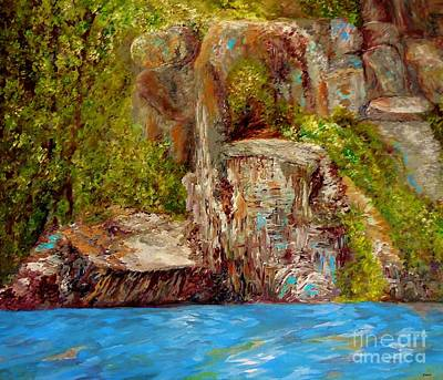Painting - Chimney Rock by Eloise Schneider