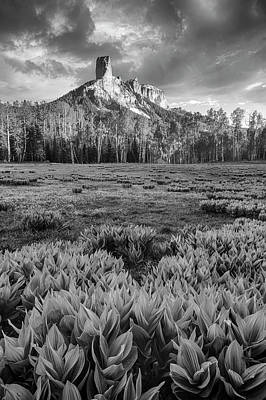 Photograph - Chimney Rock In Black And White by Denise Bush