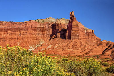 Photograph - Chimney Rock In Capitol Reef National Park by Carolyn Derstine
