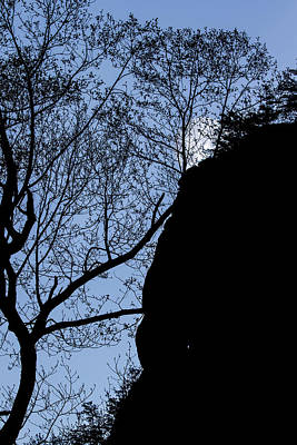 Photograph - Chimney Rock State Park Silhouette by John Haldane