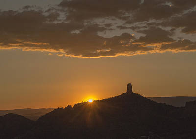 Photograph - Chimney Rock Sunset by Laura Pratt