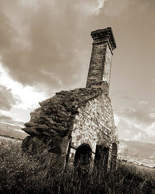 Chimney Ruins Art Print