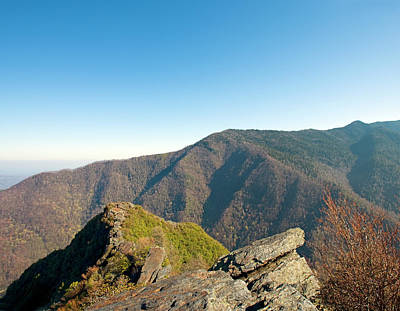 Chimney Tops Vista In Great Smoky Mountain National Park Tennessee Art Print by Brendan Reals