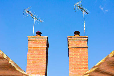 Neighbour Photograph - Chimneys by Tom Gowanlock