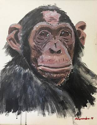 Painting - Chimp 1 by Alejandro Lopez-Tasso