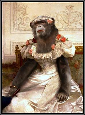 Parody Mixed Media - Chimp In Gown  by Gravityx9  Designs