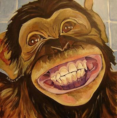Chimp Smile Original by Silvina Lanusse