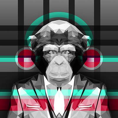 Chimpanzee Digital Art - Chimpanzee 4 by Gallini Design
