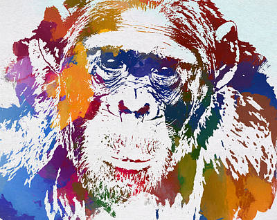 Selection Painting - Chimpanzee by Dan Sproul