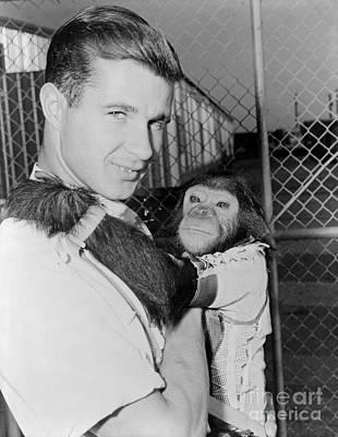 Photograph - Chimpanzee Enos Nasa Astronaut by R Muirhead Art