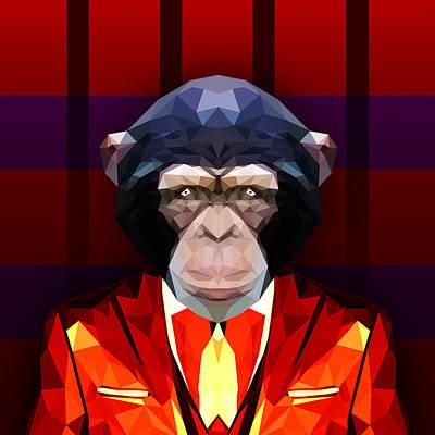 Chimpanzee Digital Art - Chimpanzee by Gallini Design