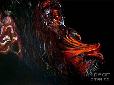 Chimpanzee In Color Original by Johnee Fullerton