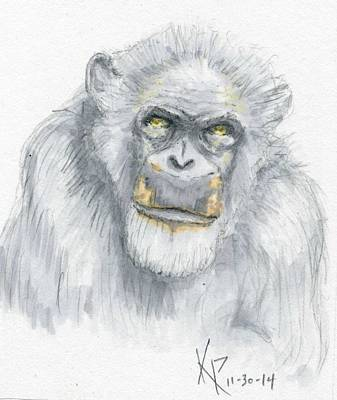 Chimpanzee Mixed Media - Chimpanzee  by Kurt Prather