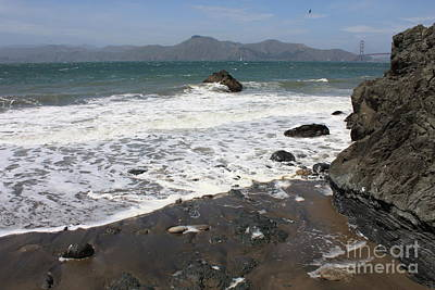 China Beach Photograph - China Beach With Outgoing Wave by Carol Groenen
