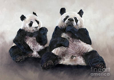 Panda Cub Wall Art - Painting - China Bear, Pixiu by Odile Kidd