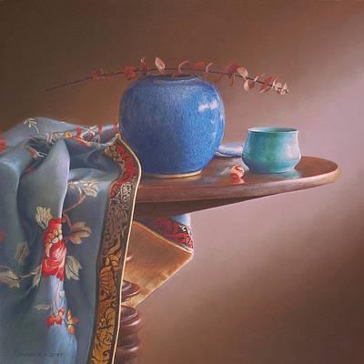 Painting - China Blues by Barbara Groff