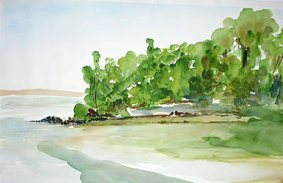Painting - China Camp Beach, South2 by Tom Simmons
