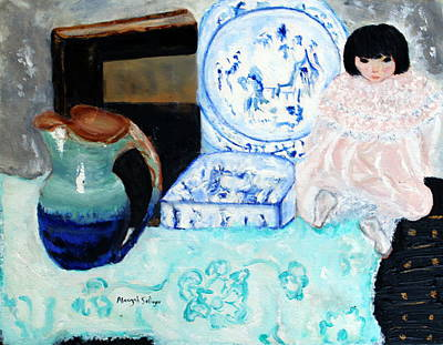 Painting - China Doll by Aleezah Selinger