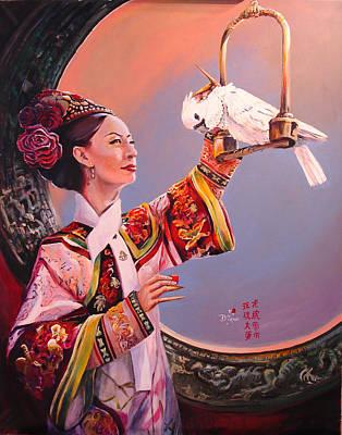 China Girl And Cockatoo Original