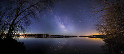 Photograph - China Lake Milky Way Panorama by John Meader