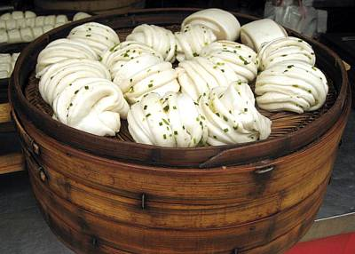Photograph - China Shanghai Market Dumplings by Lisa Boyd