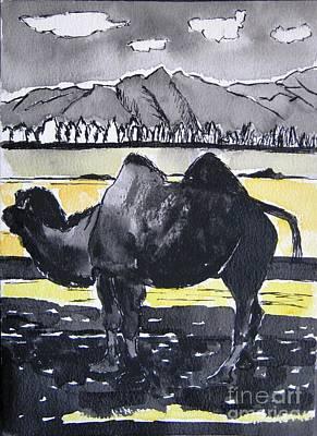 China Silk Road Art Print by Lesley Giles