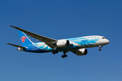 Boeing 787 Dreamliner Photograph - China Southern Airlines Boeing 787 by David Pyatt