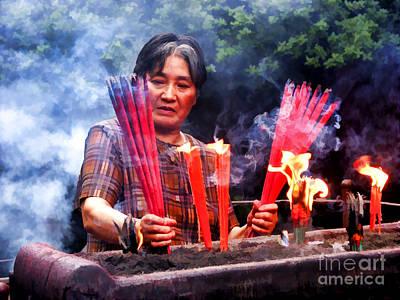 Photograph - China Tapers by Rick Bragan