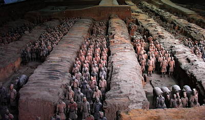 Photograph -  China - Terra Cotta Warriors by Jacqueline M Lewis