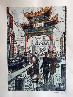 Painting - China Town  Antwerpen by Varvara Stylidou