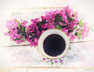 Photograph - Chinaberry Blossoms And Coffee Cup Two by Anna Louise