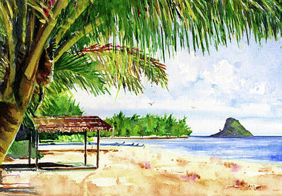 Painting - Chinaman Hat Island by John D Benson
