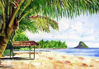 Painting - Chinaman Hat Island by John D Benson