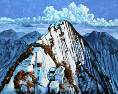 Painting - China's Mountains 2 by John Lautermilch