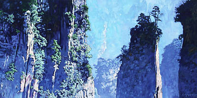 Painting - China's Mountains 4 by John Lautermilch
