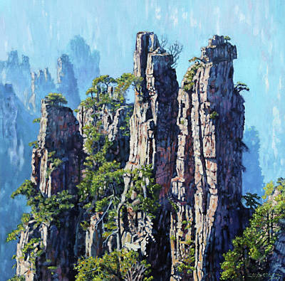 Painting - Chinas Mountains Six by John Lautermilch