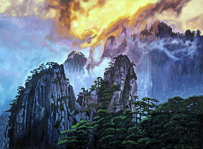 Painting - Chinas Mountains Seven by John Lautermilch